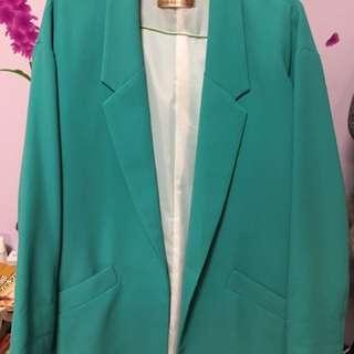 版型絕佳🇰🇷G市購入m.a.k.m.a.k.s oversize 藍綠西裝外套