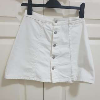 White Button Up Skirt