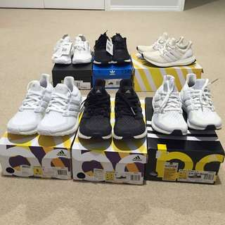Adidas Ultra Boost 1.0 And 2.0  NMDS R1 For Sale
