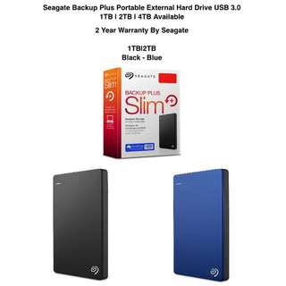 Free Next Day Delivery To Door Seagate Backup Plus Portable External Hard Drive 1TB 2TB 4TB 5TB 8TB USB 3.0 Free 2 Years Warranty By Seagate