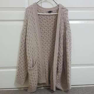 Chunky Oversized Nude Sweater