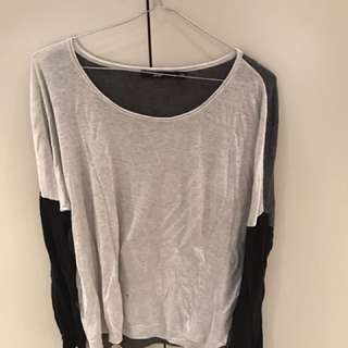 Sportsgirl Grey/black Knit Long sleeve