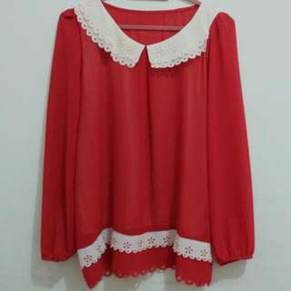 Daisy Top in Red