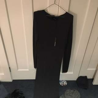 decjuba Longsleeve Charcoal Dress