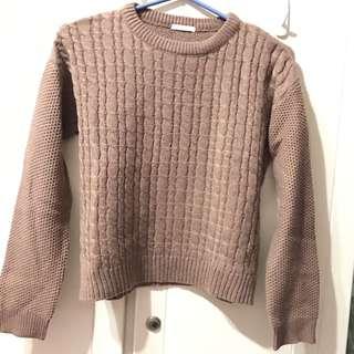 GU 駝色 土黃 毛衣