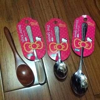 日本限定Hello Kitty餐具- 4支一起賣喔!
