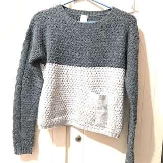 VILA 灰色 毛衣