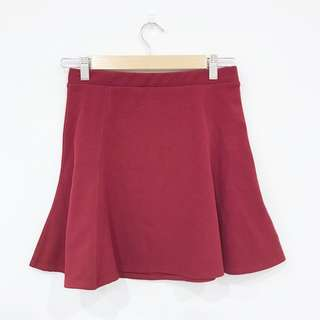 Silence + Noise Red Skirt