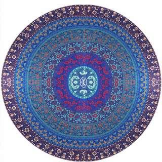 Dream Time Floral Print Mandala Beach Mat