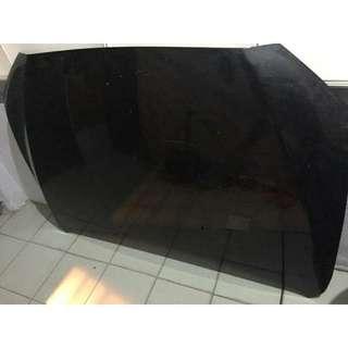 Original Mitsubishi Lancer 2.0GT front hood with tray under hood (black)