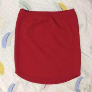 Red Bandage Skirt