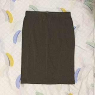 Terranova Olive Green Pencil Skirt