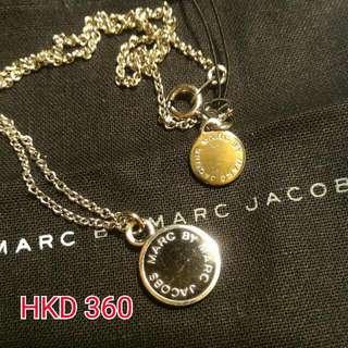 Marc by Marc Jacobs 黑色圓形鍊咀銀色頸鍊
