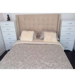 Panel Upholstered Queen Bed