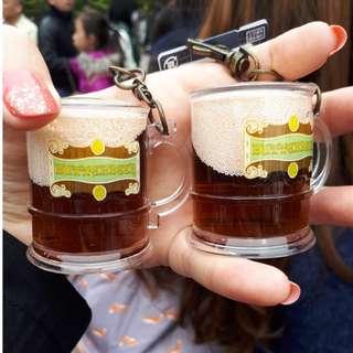 哈利波特 奶油啤酒鑰匙圈