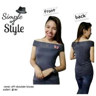 off-shoulder top
