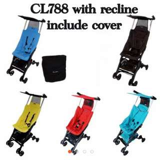 CHEAPEST IN CAROUSELL Pockit Stroller Cocolatte (TRUSTED SELLER)(Recline)