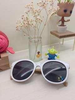 太陽眼鏡/墨鏡/韓國圓墨鏡/白框