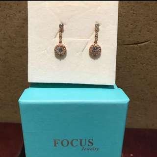 Focus Jewelry 氣質 垂吊耳環