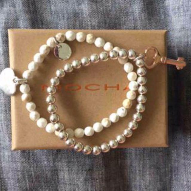 2 X Brand New Mocha Braclets