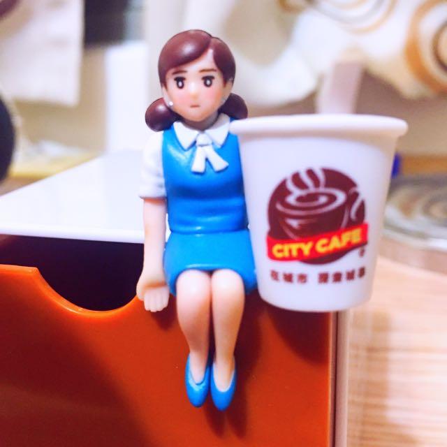 7-11環遊世界杯緣子公仔-經典杯緣子&City Cafe