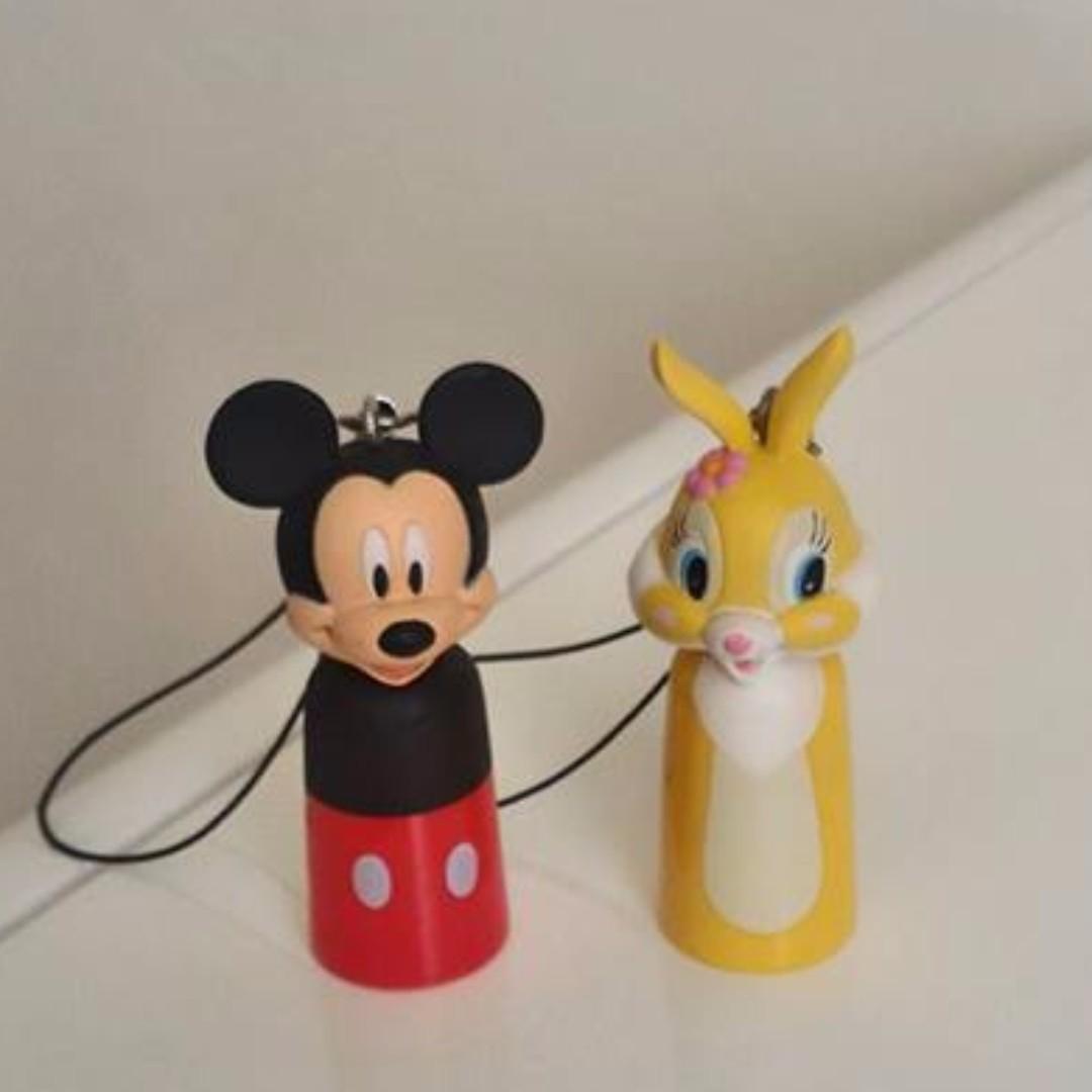 絕版迷你迪士尼手電筒扭蛋&米奇&邦尼兔