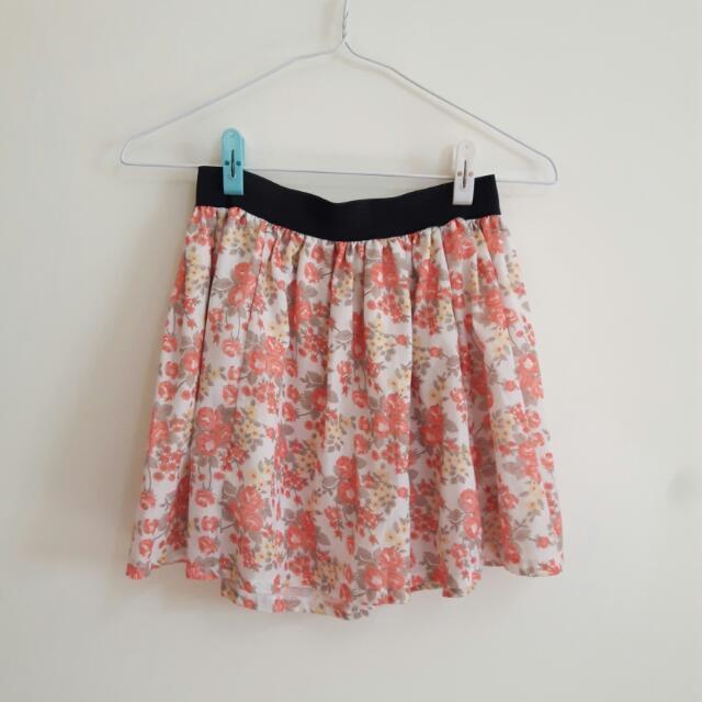 氣質花花短裙