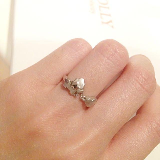 可愛貴賓狗造型銀飾戒指