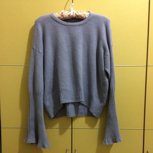 網模二手衣-薰衣草紫毛衣