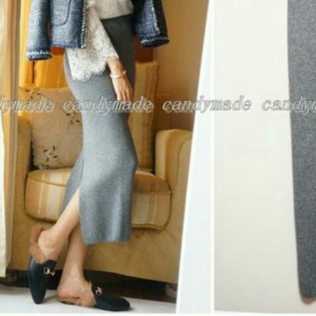 包臀窄裙-灰