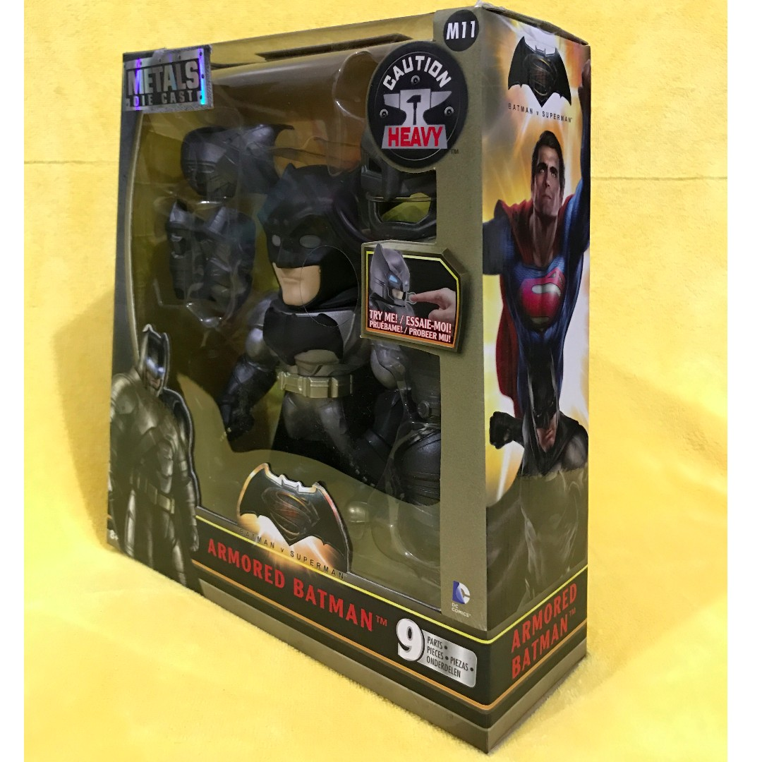 ARMOURED BATMAN - Metals Die Cast Armored, 6 Inches (Batman Vs. Superman)