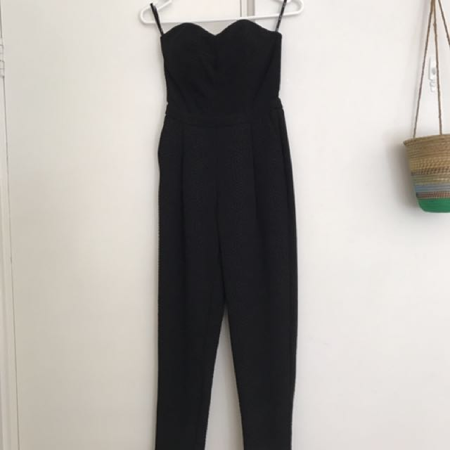 PRICE DROP! Bardot Black Jumpsuit Size 6