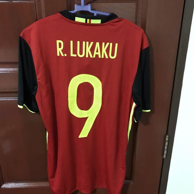 big sale bdc22 1013b Belgium 2017 Lukaku Home Jersey