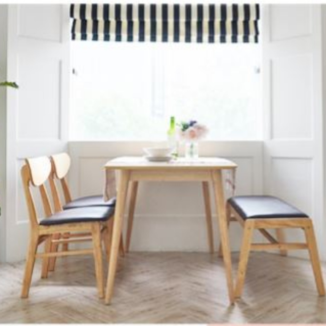 2cf350b612 Benise Scandinavian Compact 4 Seater Dining Set A (1200) (Table, 2 ...