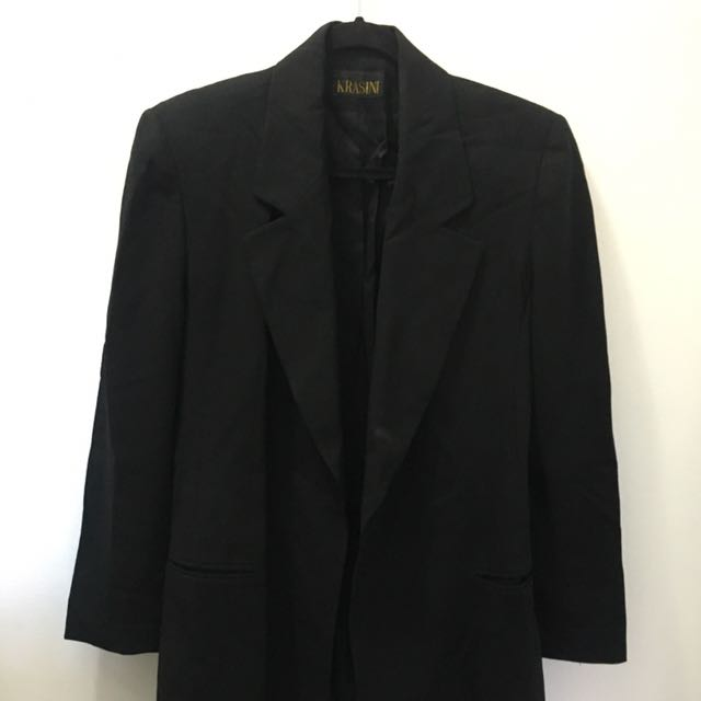 Black Over side Vintage Blazer