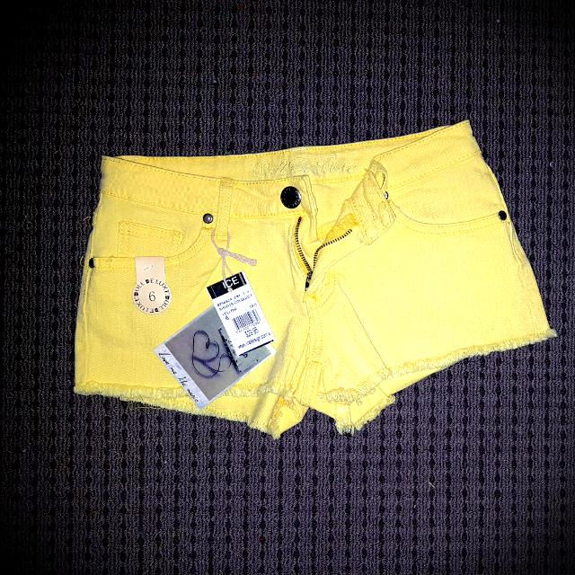 Bnwt Yellow Ice Shorts Size 6