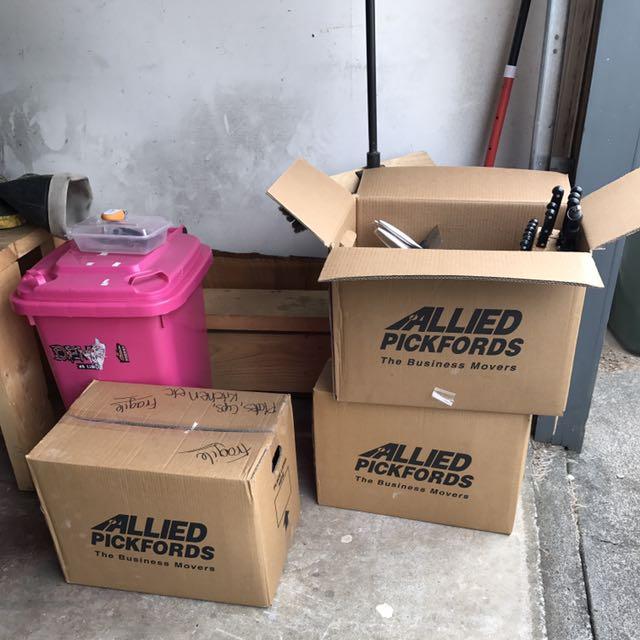 Box Full Of Kitchen Stuff
