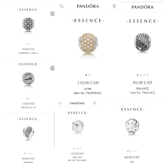 BRAND NEW AUTHENTIC PANDORA ESSENCE CHARMS