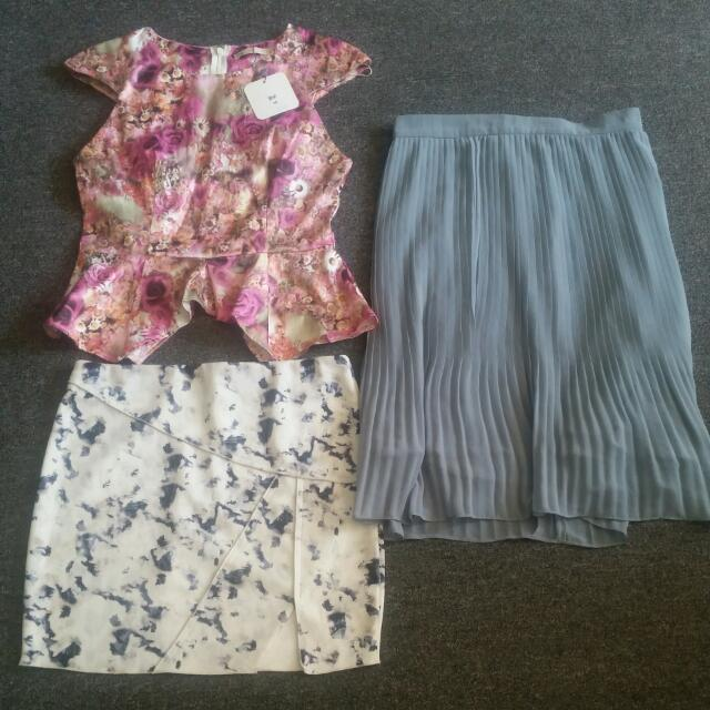 Bundle 2 Skirts And A Top Size 10