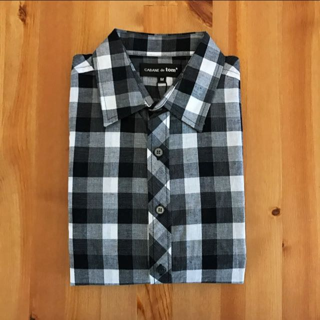 Check Shirt 黑格紋襯衫