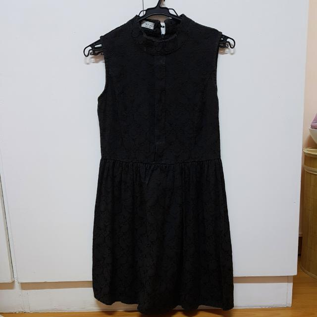 Chinese Collared Black Dress