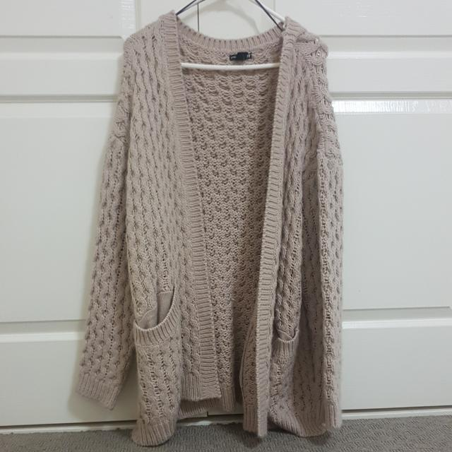 Chunky Oversized Nude Sweater