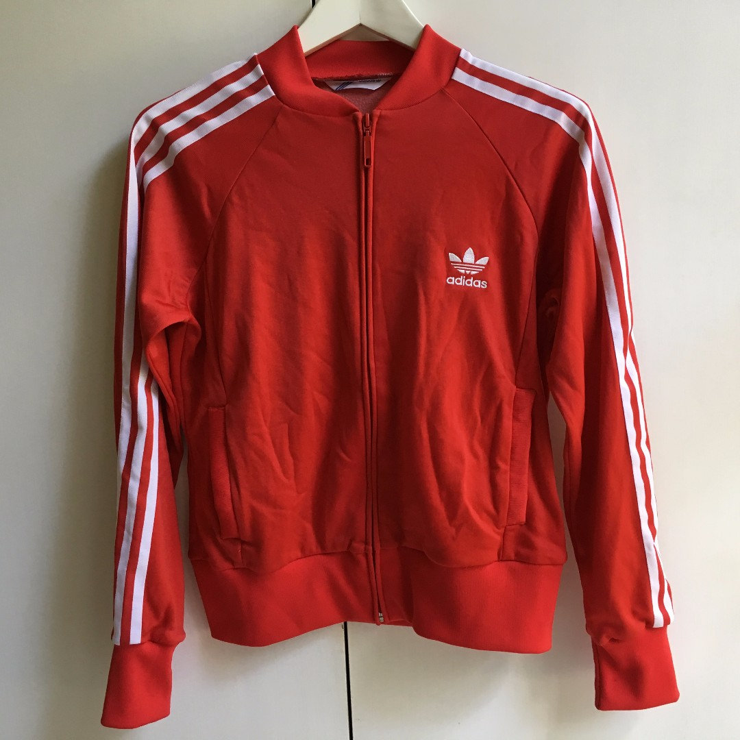 Classic Adidas Adidas Zip Jacket Womens Size 14 Red Used in great condition