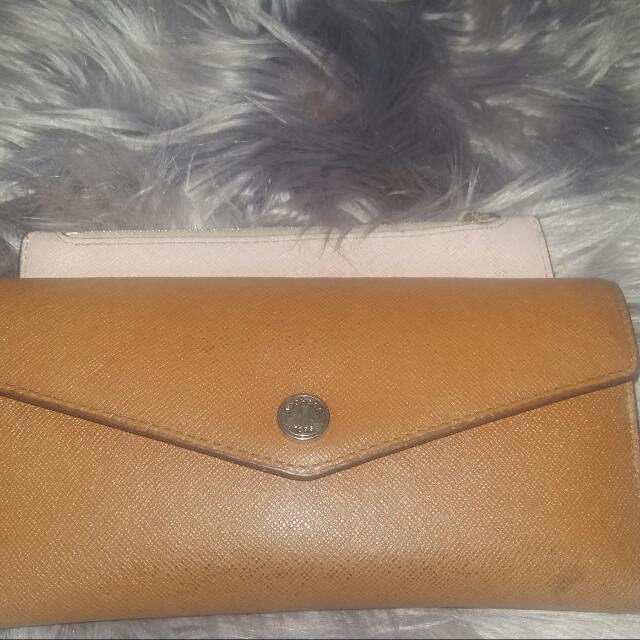 Cognac Michael Kors wallet
