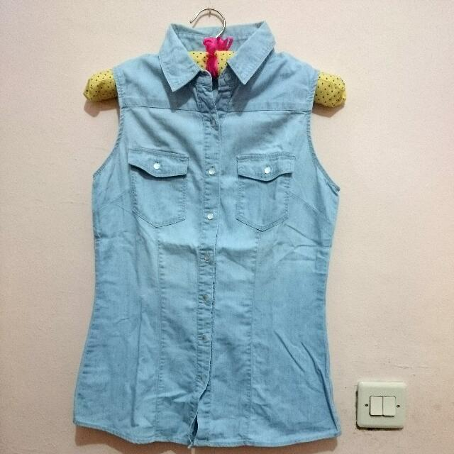 Colorbox Jeans Sleveless