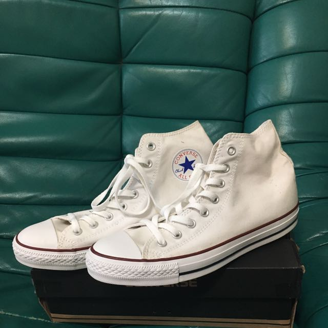 converse白色高筒帆布鞋 All Star