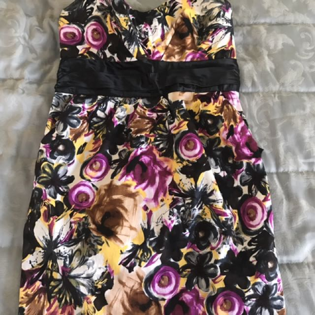 Size Large Costa Blanca Strapless Floral Dress