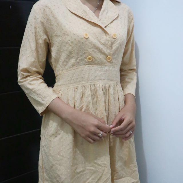 Creme Midi Dress
