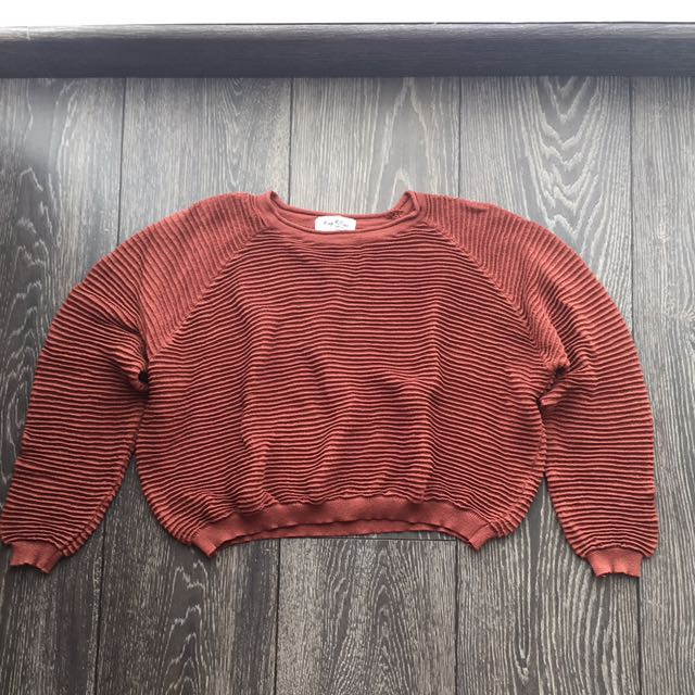 Crop Bricks Knit Top