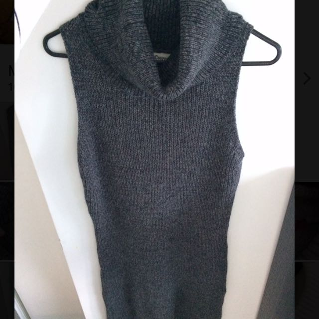 Dark Grey Long Knit Dreas